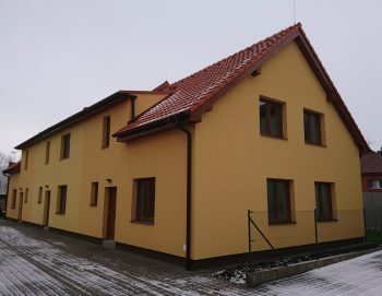 Novostavba řadového domu v Českém Brodě 2017