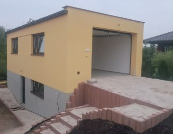 Výstavba garáže v Klučově 2015