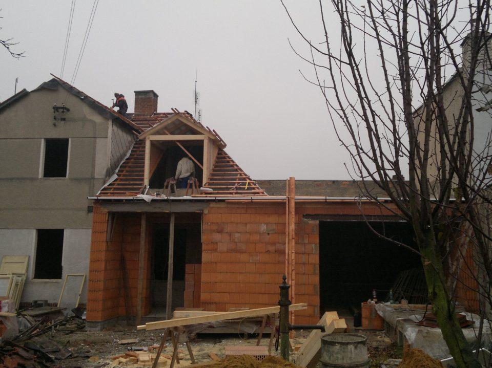 Rekonstrukce RD v Úvalech 2012