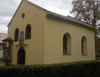 Oprava fasády na kostele v Českém Brodě 2013