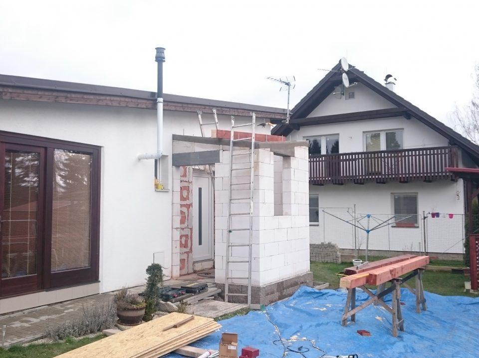 Přístavba verandy, Mukařov 2015